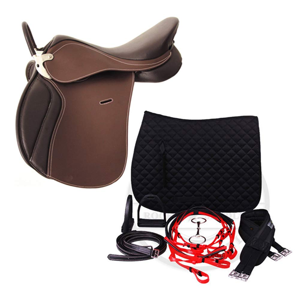 Brown Saddle Integrated Saddle Full Saddle Riding Equipment Equestrian Supplies