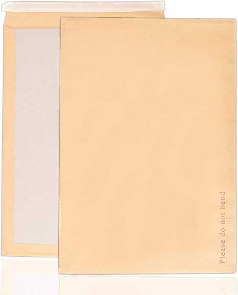 50 x A3//C3 PLEASE DO NOT BEND HARD CARD BOARD BACKED ENVELOPES MANILLA BROWN