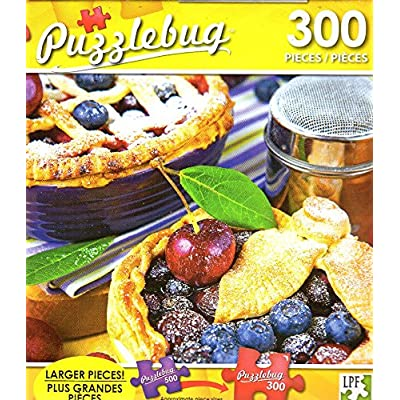 Puzzlebug Homemade Shortcrust Pastry Berry Pies - 300 Pieces Jigsaw Puzzle p 004: Toys & Games