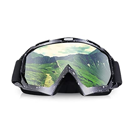 4f4aef1cd3b2 ThyWay Dustproof Outdoor Goggles for Motocross   Bike Riding Wind Skiing  Winter Sports (Black)