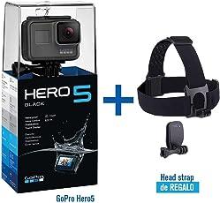 SalesOps Cámara Deportiva GoPro Hero5 + GoPro HeadStrap de Regalo