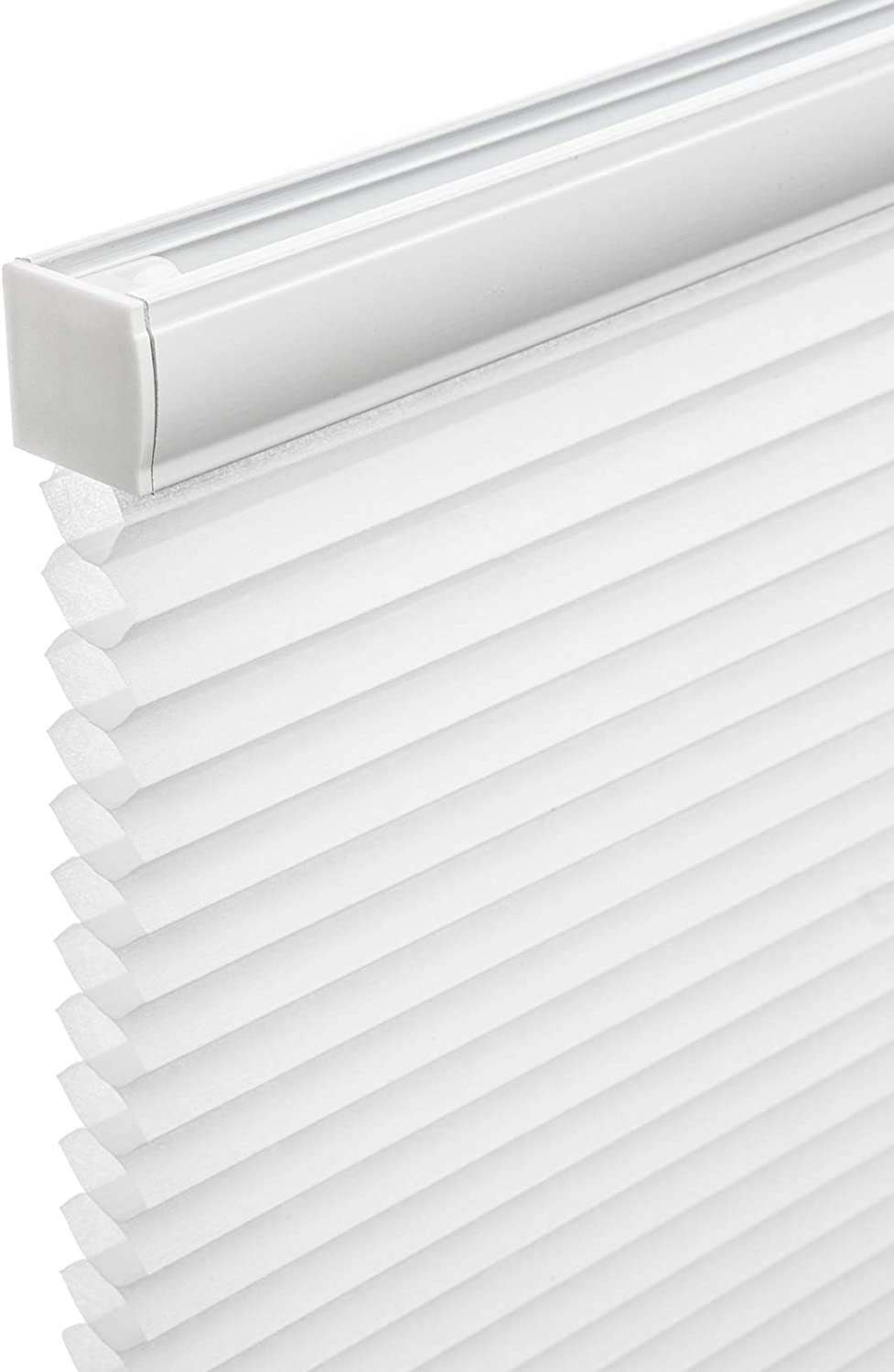 """Changshade Cordless Cellular Window Shades 1"""" Honeycomb UV Protection Shades with Valance Bottom Up Light Filtering Windows Blinds for Bedroom Kitchen Home Decor Glass Doors 44""""W x 72""""H, CEL44WT72B"""