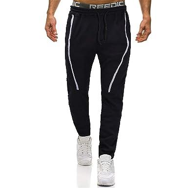 4aaa4f7e76 wodceeke Casual Gym Pants, Men Pants Solid Sport Work Pants Cotton Elastic  Waist Pocket Overalls