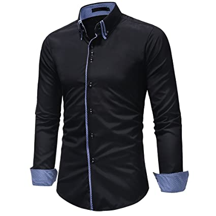 66d457a9 Amazon.com: Emerayo Mens Dress Shirts Clearance, Regular Fit Button ...