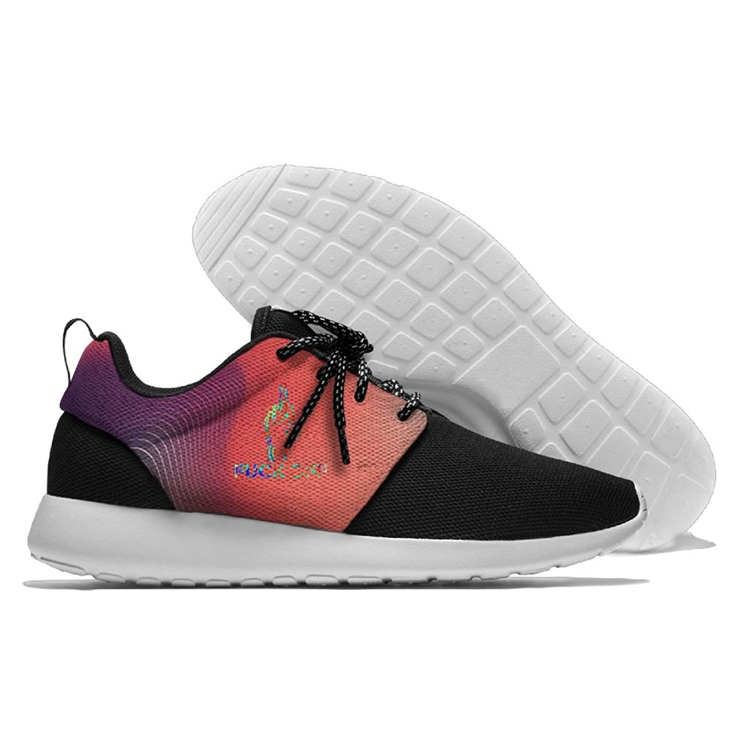 Fuck Off 3D Print Male Casual Sport Running Shoes