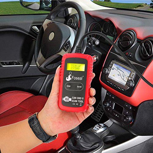 Foseal OBD2 OBDII Code Reader Scanner, Automotive Diagnostic Scan Tool for Check Engine Light, Read&Clear Fault Codes for OBDII Vehicles