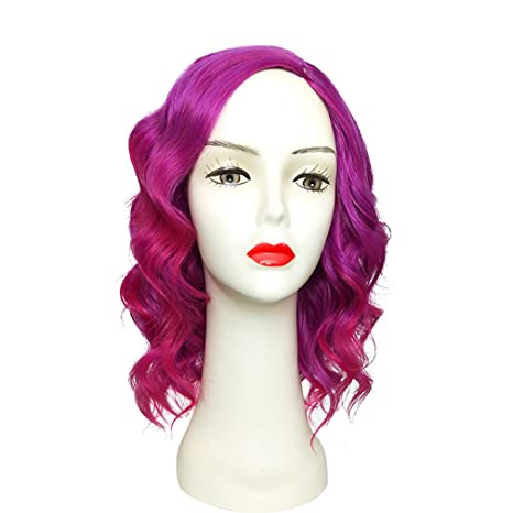 Hombro Larga rizado peluca de namecute resistente al calor peluca pelucas sintéticas para mujeres, sin