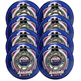HYPER Inline Wheels OUTDOOR REC/FITNESS/HOCKEY 76mm 82A ASSAULT XT 8-PACK