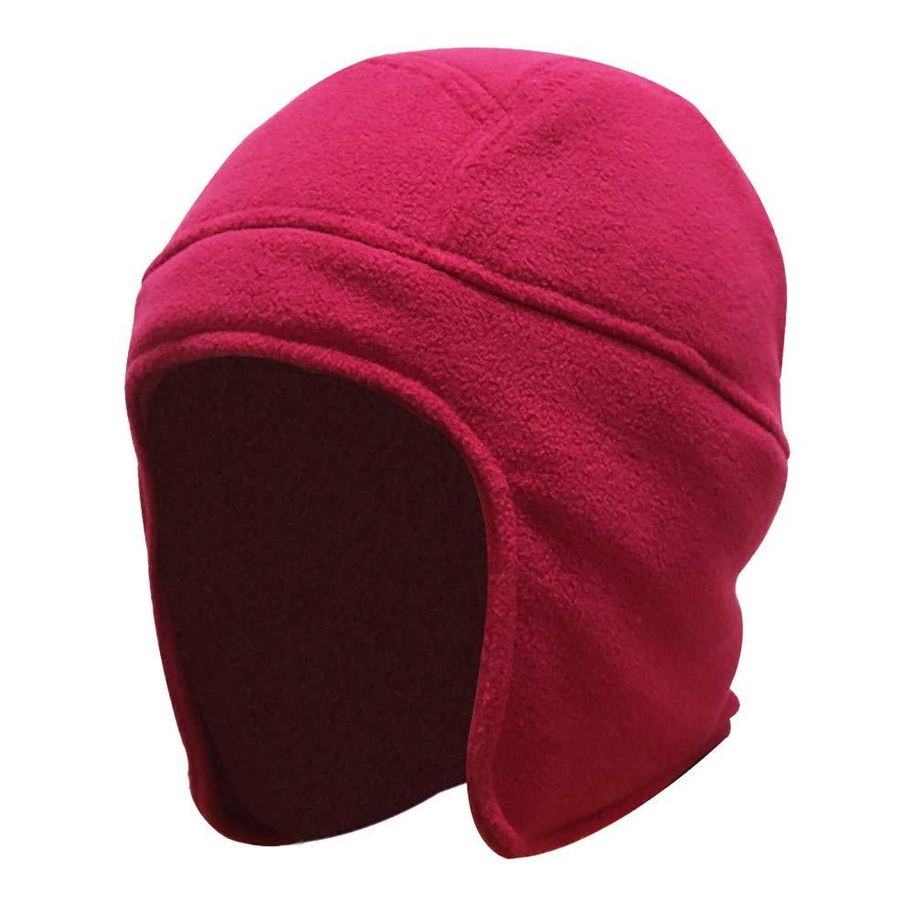 KPPONG Winter Mode Verdicken Warme Mens Women Winter Outdoor Einfarbig Fleece Earflap Hut Caps Ohren Warme M/ütze