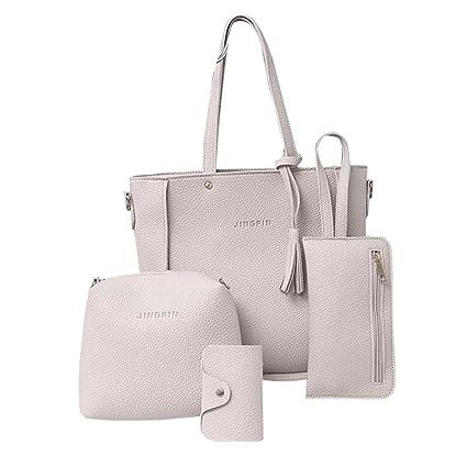 bd8601c29378 Amazon.com  Clearance! Women Four Set Handbag