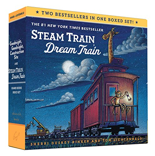Goodnight, Goodnight, Construction Site and Steam Train, Dream Train Board Books Boxed Set JungleDealsBlog.com