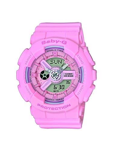 Casio Reloj Analogico-Digital para Mujer de Cuarzo con Correa en Resina BA-110-4A1ER: Amazon.es: Relojes