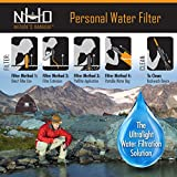 Personal Water Filter Straw for Camping, Hiking, Travel, and Emergency Preparedness with New .05 Nano Tech Filtration. Includes Boost Bag + Survival Tube + Flush Syringe