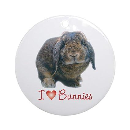 13c2ba3c Amazon.com: CafePress bunny lover Keepsake (Round) Round Holiday ...
