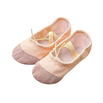 1e0b024373d0f6 Longra Ballerines Chaussures Canvas Chaussures de Ballet Classique EU24~32  Doux Chaussons de Danse pour