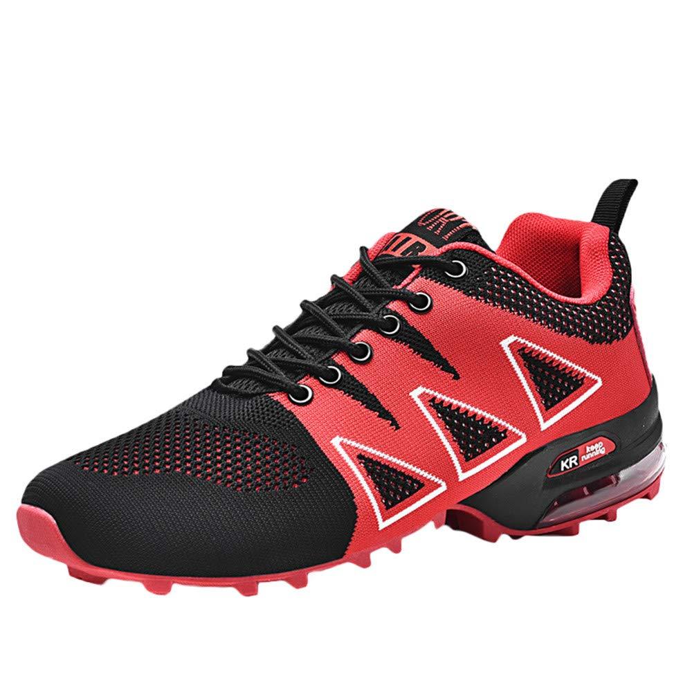 Zapatillas de Senderismo para Hombre, Hombres Zapatos de Alpinismo al Aire Libre Antideslizante Malla Transpirable Cordones Zapatillas