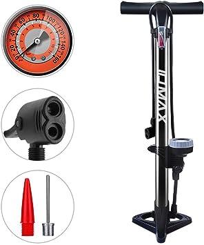 WEIDMAX Bomba para Bicicleta, Bomba ergonómica para Piso de Bicicleta Bomba de inflado de neumáticos para Bicicleta Bomba infladora portátil con manómetro y Cabezal de válvula Inteligente: Amazon.es: Deportes y aire libre