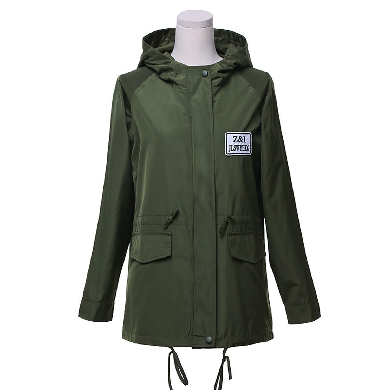 Amazon.com: Spring Moon Trench Coat Overcoat Basic Coat ...