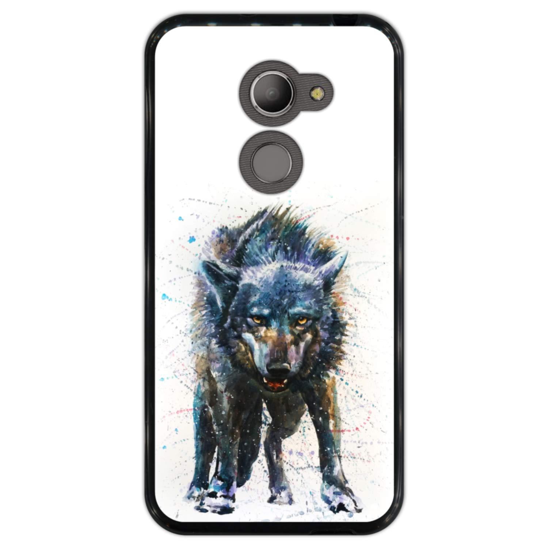 Hapdey Funda Negra para [ Vodafone Smart N8 ] diseño [ Lobo ...
