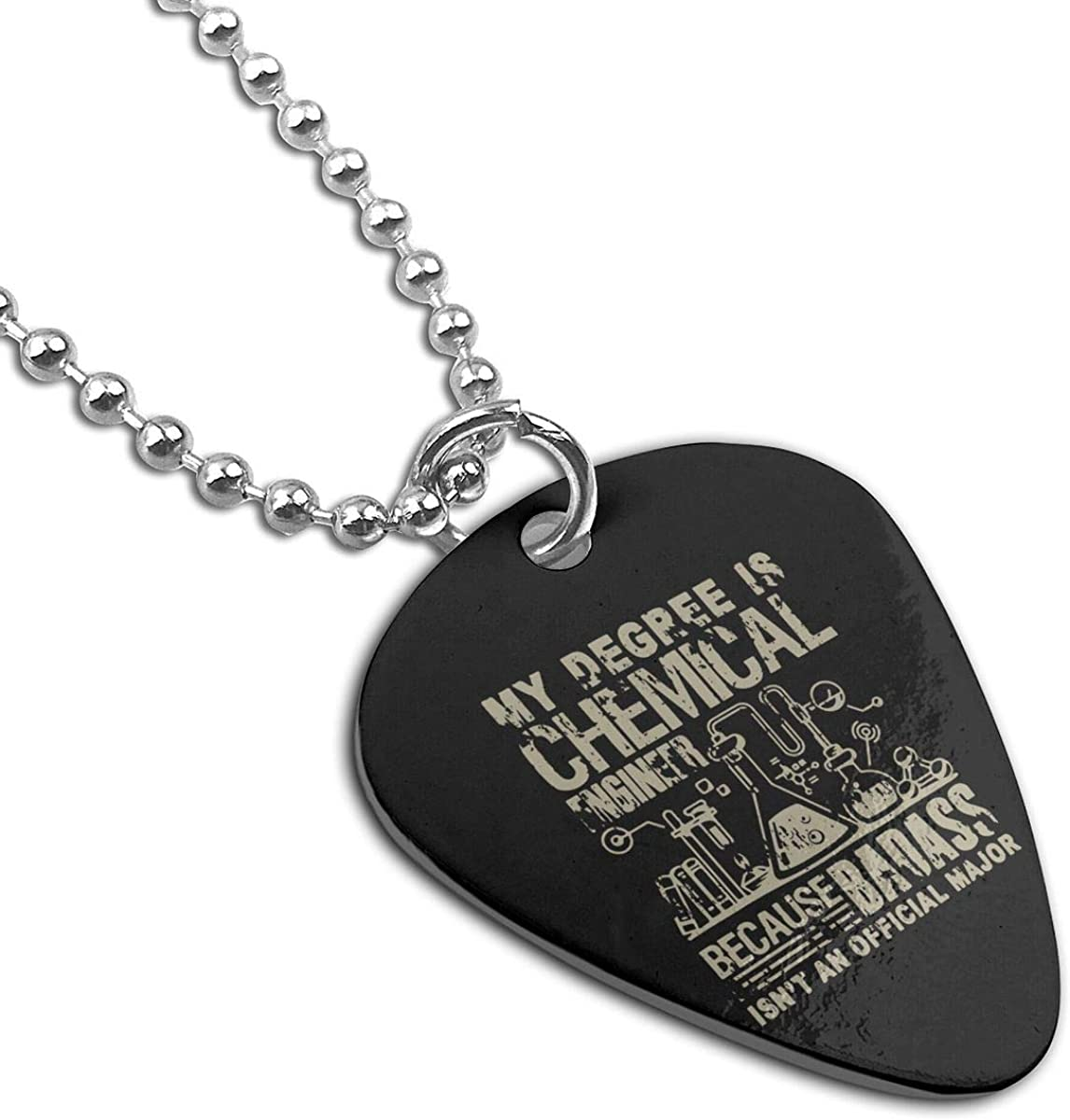 MY DEGREE IS CHEMICAL ENGINEER Custom Guitar Pick Pendant Necklace Keychain