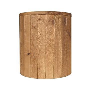 Lounge Zone Hocker Holzhocker Sitzhocker Mexican Pinie Massivholz Massiv Holz Natur Rund Holzwürfel Rustic 39x39x44cm 14112