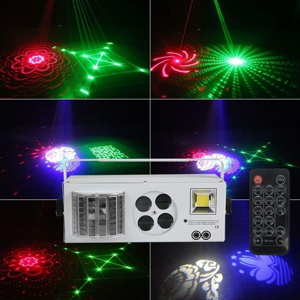 HDZWW Sound Activated Party Lights with Remote Control Dj Lighting RBG Disco Ball Strobe Lamp Par Light for Home Room Dance Parties Birthday DJ Bar Karaoke Xmas Wedding Show Club Pub (Color : White)