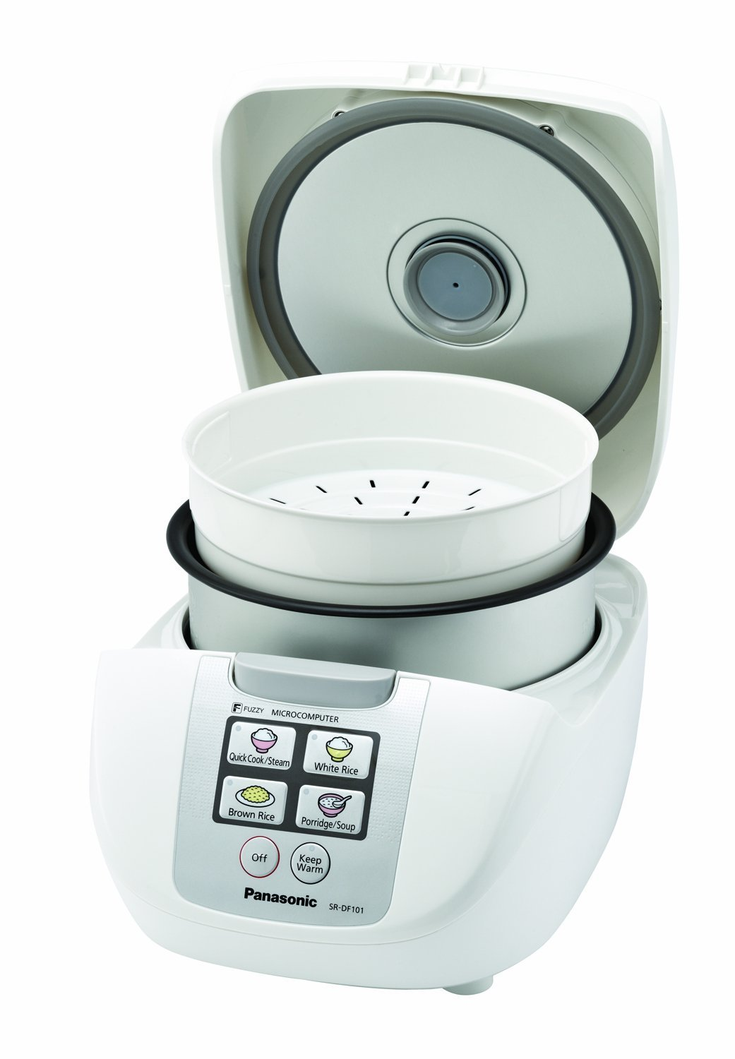 "Panasonic SR-DF101 5-Cup (Uncooked) One-Touch ""Fuzzy Logic"" Rice Cooker"