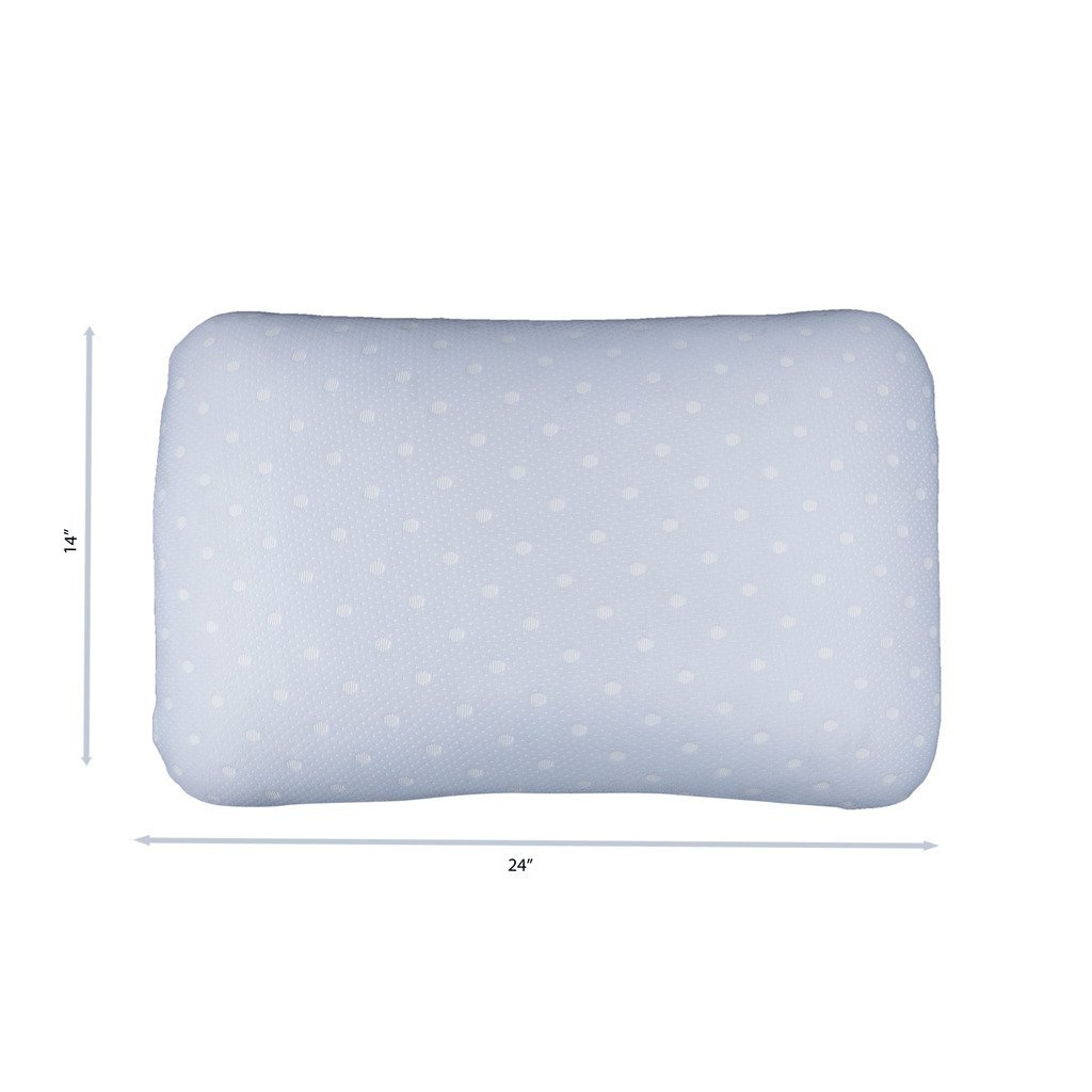 El Sauce Blanco Ultra Thin Suave y soporte de espuma de látex almohada Premium calidad dormir cómodo Feel con grandes funda de almohada 24