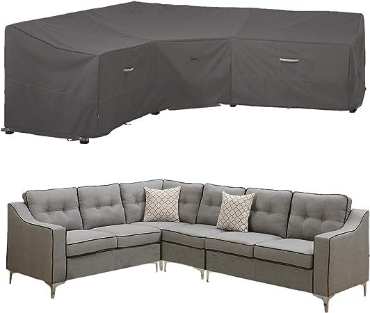 Amazon.com : EPCOVER Patio V-Shaped Sectional Sofa Cover ...