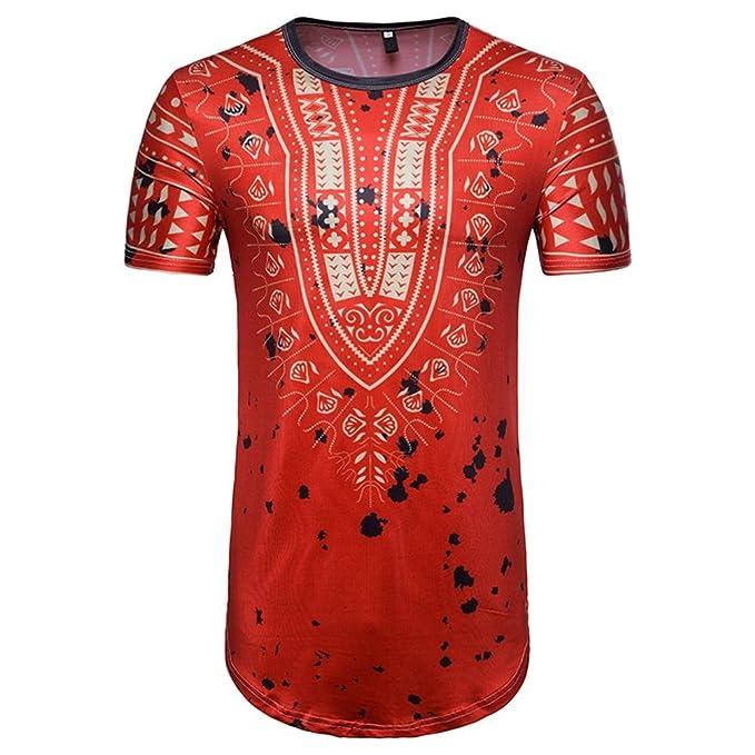 Vovotrade_Camiseta Sudadera con Capucha de Manga Corta con Cuello Redondo, Estampado EN Jersey, Manga