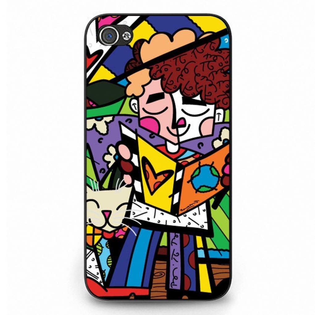 Popular Britto Logo Iphone 4 Case,Btitto Logo Phone Case Protective Hard Plastic Case Cover For Iphone 4,Black Phone Case