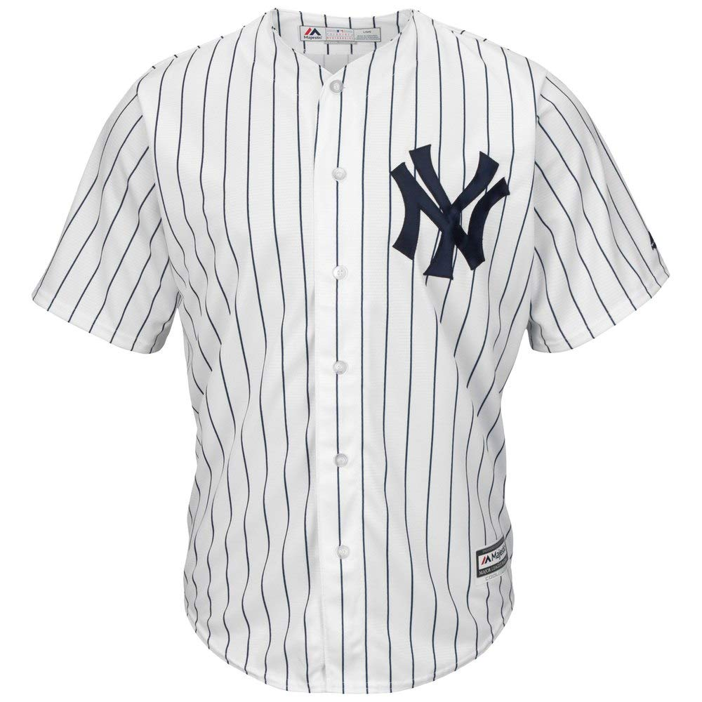 Outerstuff Mickey Mantle New York Yankees MLB Majestic Youth 8-20 White Pinstripe Home Cool Base Replica Jersey