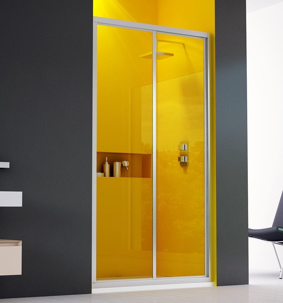 Mampara de ducha, 2 puertas correderas, 140 cm en acrílico ...