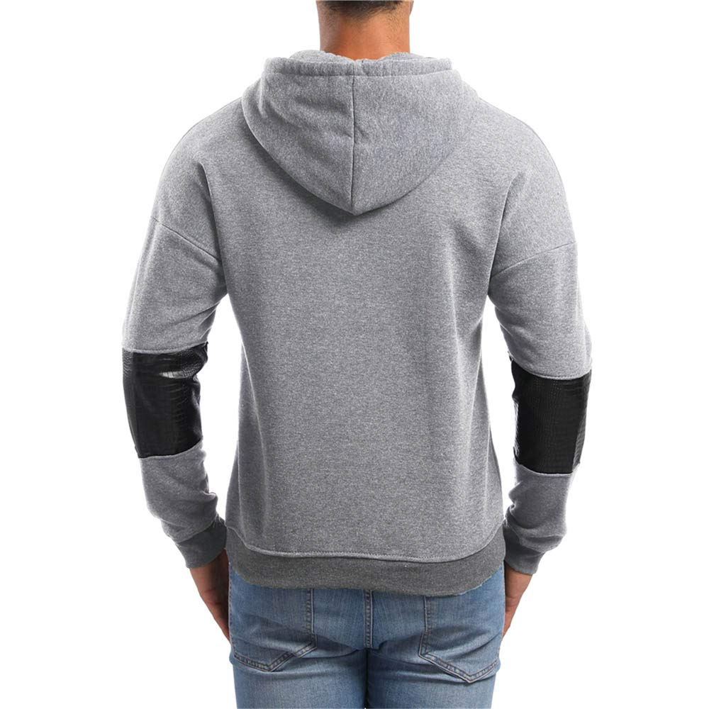 Amazon.com: SamMoSon Pullover Hoodie Men Lightweight,Mens Autumn Long Sleeve Pockets Hoodie Hooded Sweatshirt Top Tee Outwear Blouse: Clothing