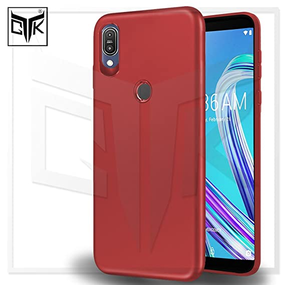 low priced 36b77 2bb2d TheGiftKart Asus Zenfone Max Pro M1 Back Cover Case: Imported Rubberised  Matte Soft Back Cover (Red) (in Stock Now)