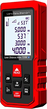 Laser Measure 230ft 70m Bluetooth Laser Distance Measuring Device M In Ft Backlit Electronic Level Pythagorean Area Volume Rechargeable With Floor Plan App Android Ios Ad Amazon Com