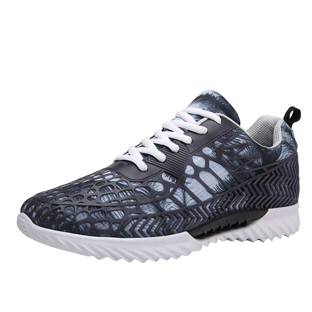 Men Athletic Running Shoes Mesh Breathable Low-Top Lightweight Non-Slip Blade Outsole Comfort Sneakers
