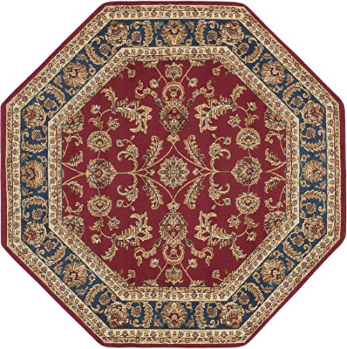 Universal Rugs Sariya Transitional Oriental Red Octagon Area Rug, 5