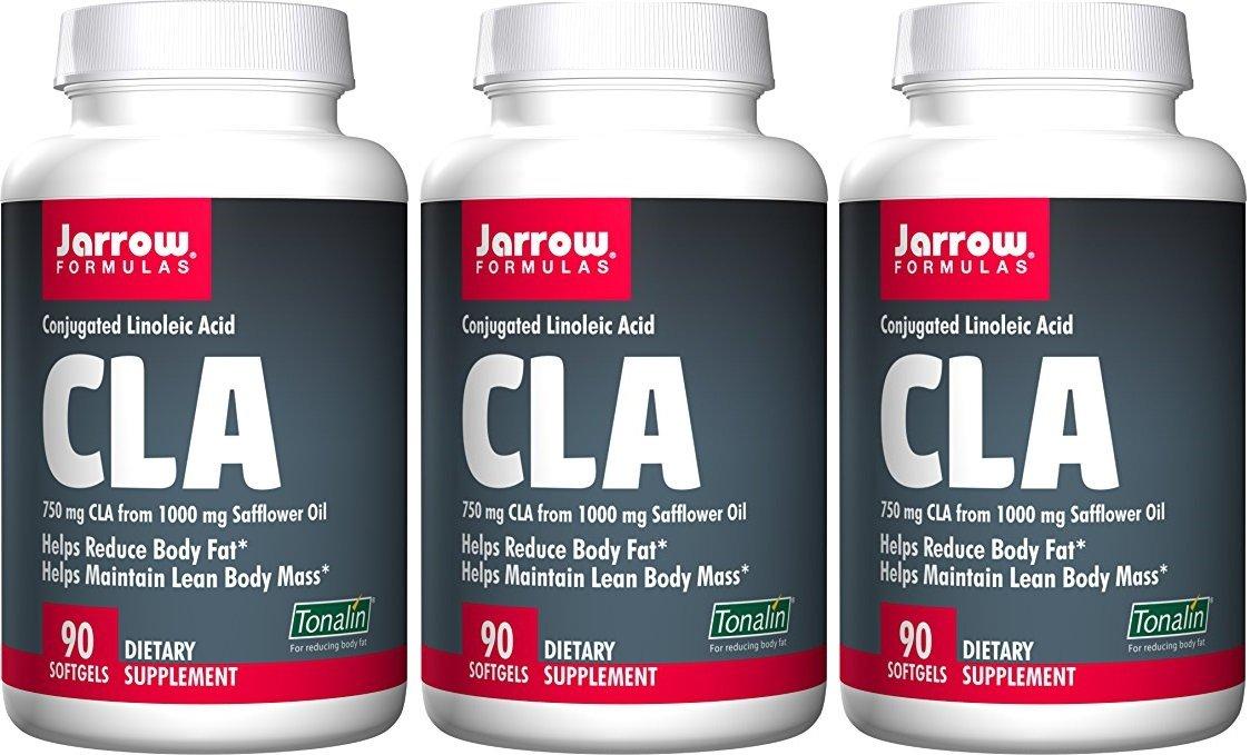 Jarrow Formulas, CLA, Conjugated Linoleic Acid, 90 Softgels. Pack of 3 bottles