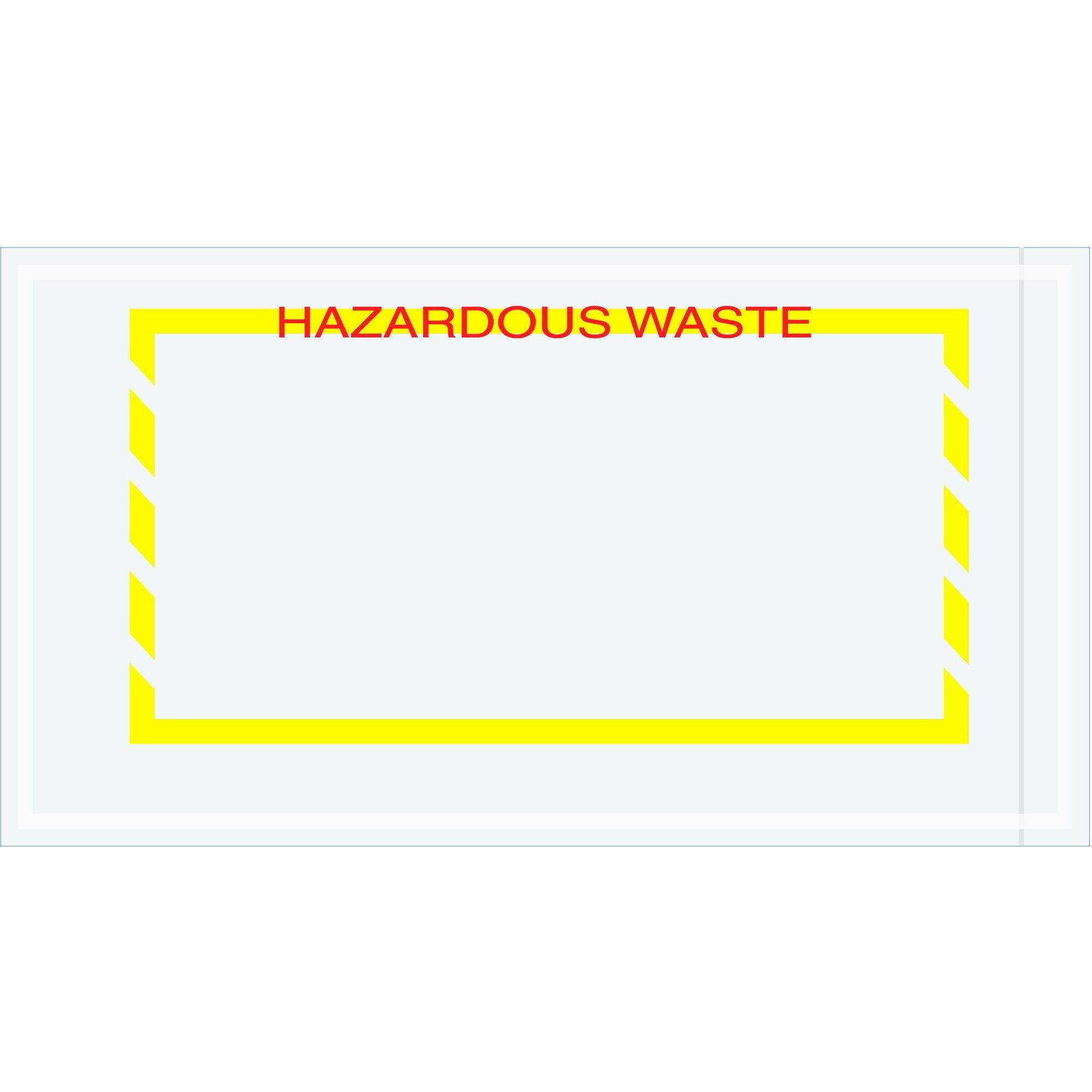 Partners Brand PPL482''Hazardous Waste'' Document Envelopes, 5 1/2'' x 10'', Yellow (Pack of 1000) by Partners Brand