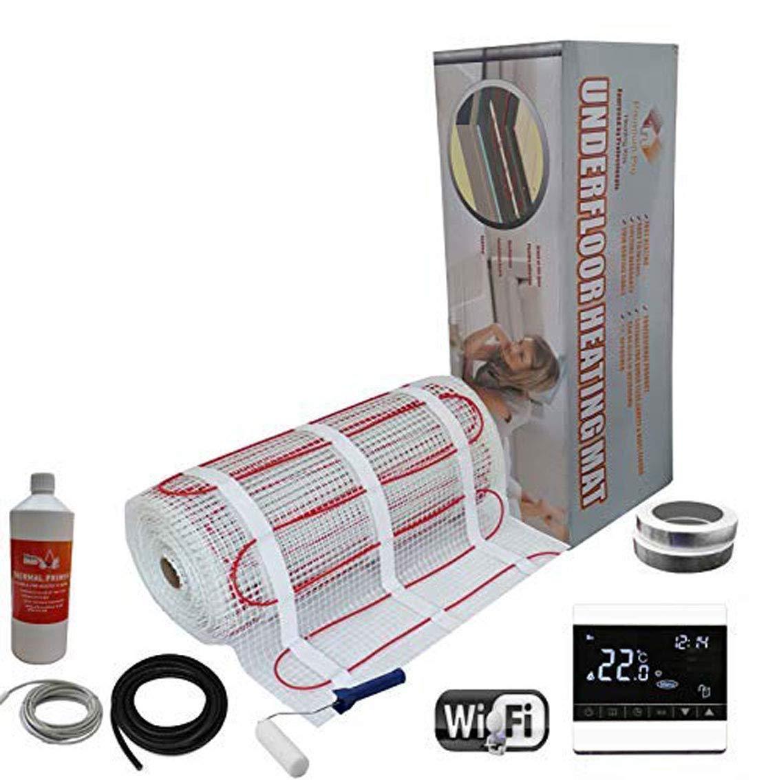 Kit /Élite de Tapis de Chauffage Au Sol /Électrique de 200 W Thermostat Noir WiFi 14.0m/² Nassboards Premium Pro