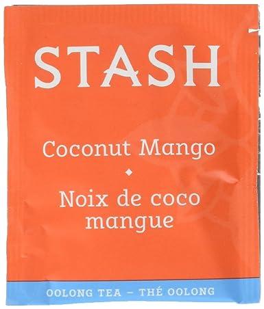 Stash Tea Coconut Mango Oolong Té, 10 bolsas de té en papel ...