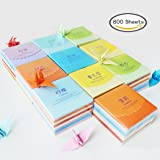 800 sheets Origami Paper, Paper Crane 8 Colors, 800 Sheets( 6.5 by 6.5 cm, or about 2.55 inches by 2.55 inches )