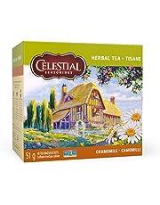 Celestial Seasonings Herbal Chamomile Tea, 40 Tea Bags per Box, 1 Box
