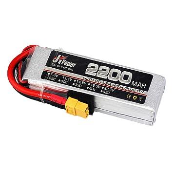 Dron TwoCC, Jhpower 7,4 V 2200 mAh 2S-45 C batería de polímero de ...
