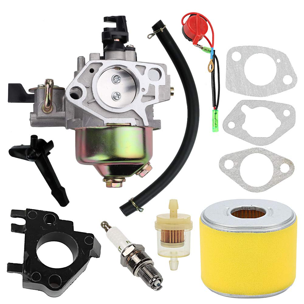 16100-ZF6-V01 Carburetor for Honda GX340 GX390 13HP 11HP 16100-ZF6-V00 Toro 22308 22330 Dingo Lawnmower Water Pumps with 17210-ZE3-505 Air Filter Gas Fuel Tank Joint Filter