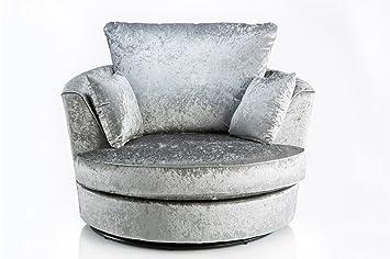 furniturestop co uk jupiter velvet swivel chair armchair silver