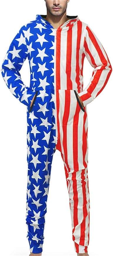 Otoño Invierno 3D Imprimir Star Stripes Pijamas Hip Hop Monos ...