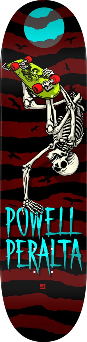 Powell Peralta Skateboard Deck Handplant Skelly Popsicle 8.5' Powell Peralta Handplant Skelly Burgandy Skateboard Deck Skate One Corp. DCGAPPHPS24420