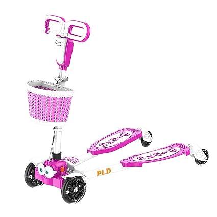 Rana de cuatro ruedas para niños Scooter Tijera Carro 4 Rueda Flash Ajustable 4 Altura con